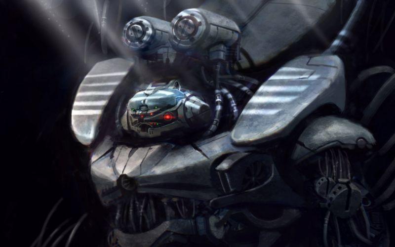 sci-fi robot cyborg art artwork wallpaper