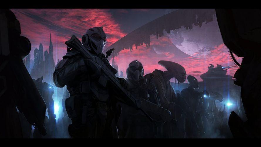 alien sci-fi art artwork futuristic aliens wallpaper