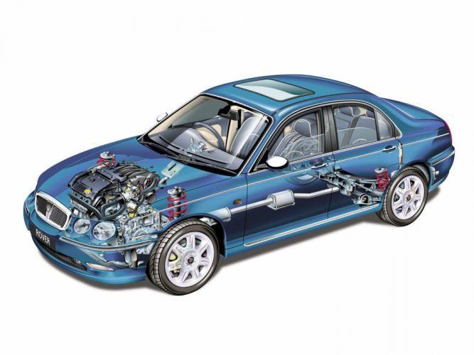 Rover-75 sedan cars technical wallpaper