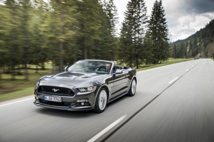 Ford Mustang-GT EU-spec 2015 Convertible cars wallpaper