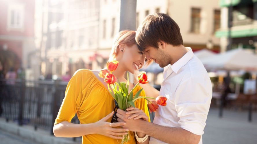 couple flower summer love wallpaper