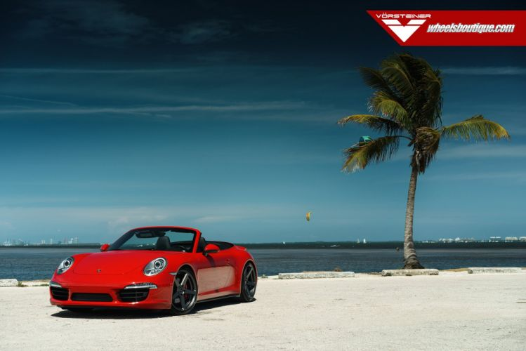 Porsche C4S convertible HRE wheels tuning coupe cars wallpaper