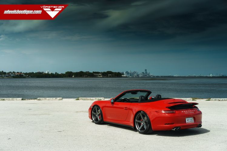 Porsche C4S convertible HRE wheels tuning coupe cars wallpaper