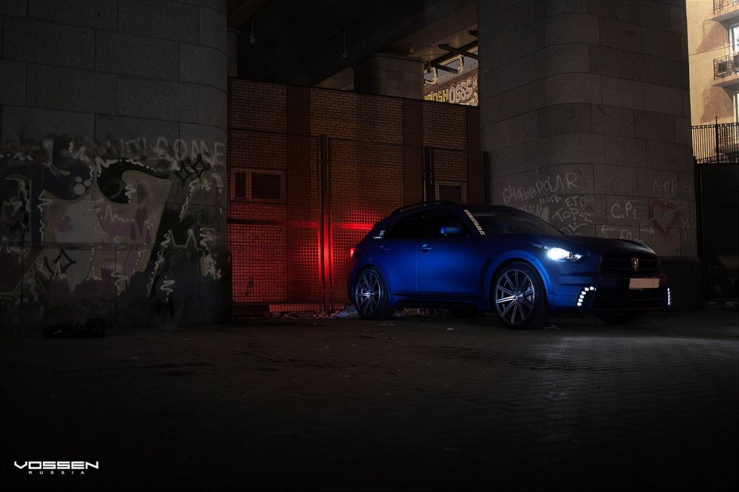Infiniti-FX blue suv vossen wheels tuning coupe cars wallpaper