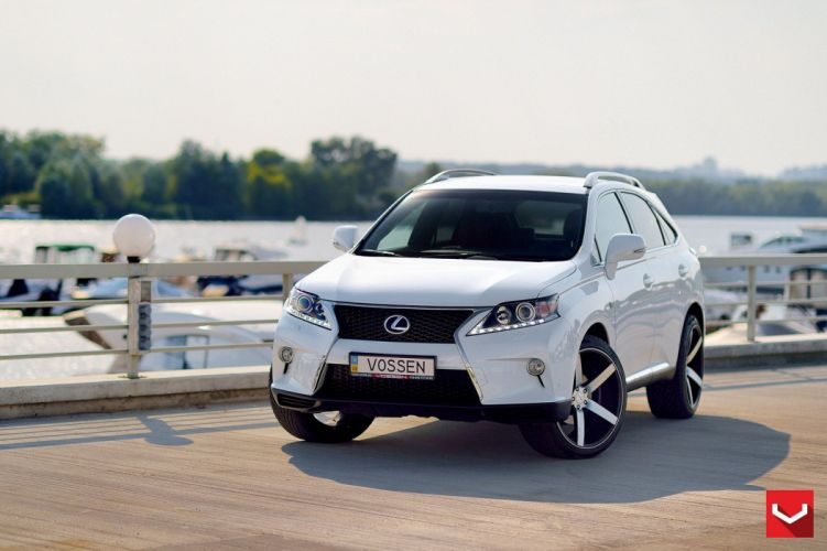 Lexus RX350 suv white vossen wheels tuning coupe cars wallpaper