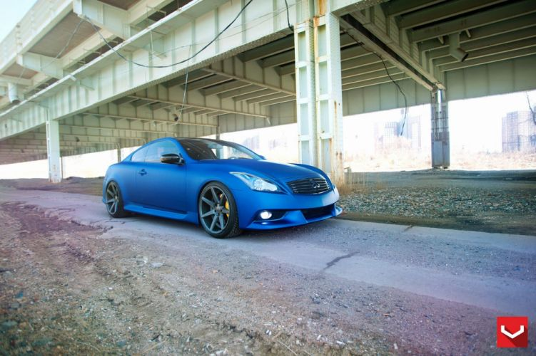 infiniti g37 blue vossen wheels tuning coupe cars wallpaper