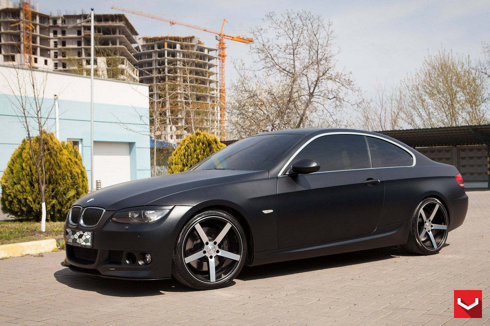 Bmw 3 Series Matte Black Vossen Wheels Tuning Coupe Cars