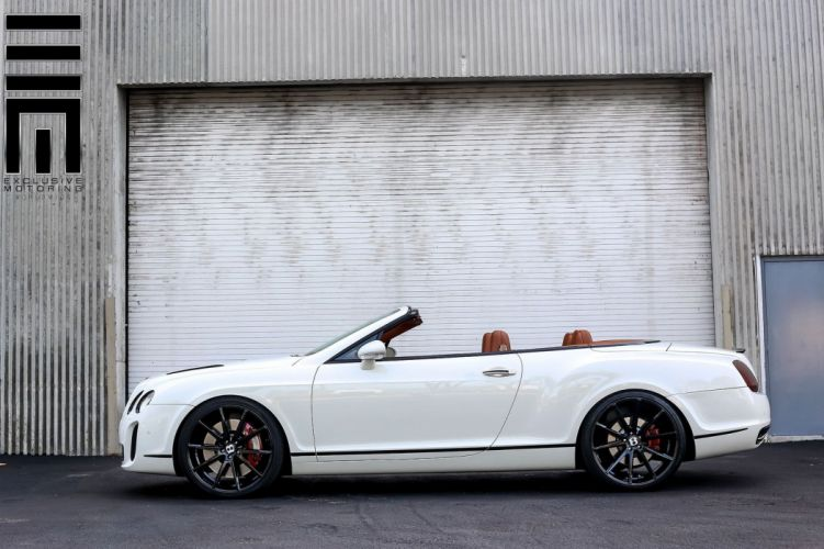 Bentley Continental convertible white vossen wheels tuning coupe cars wallpaper