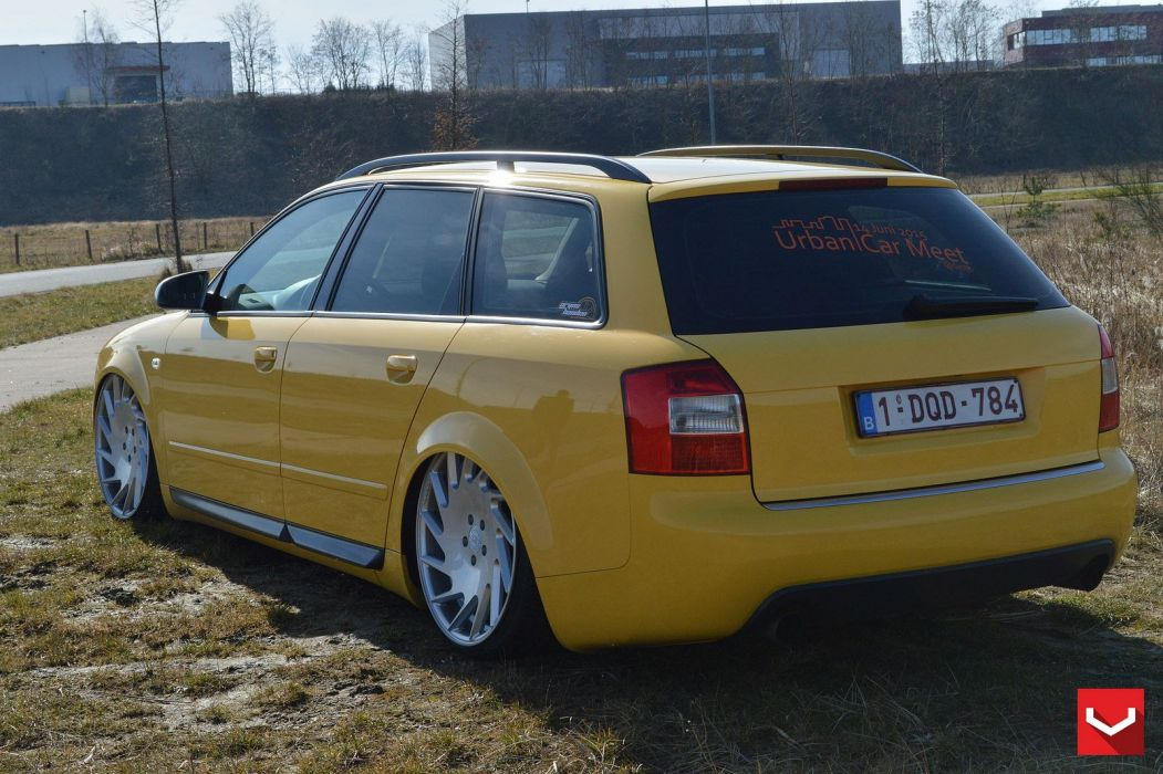 Audi-A4 wagon vossen wheels tuning cars wallpaper