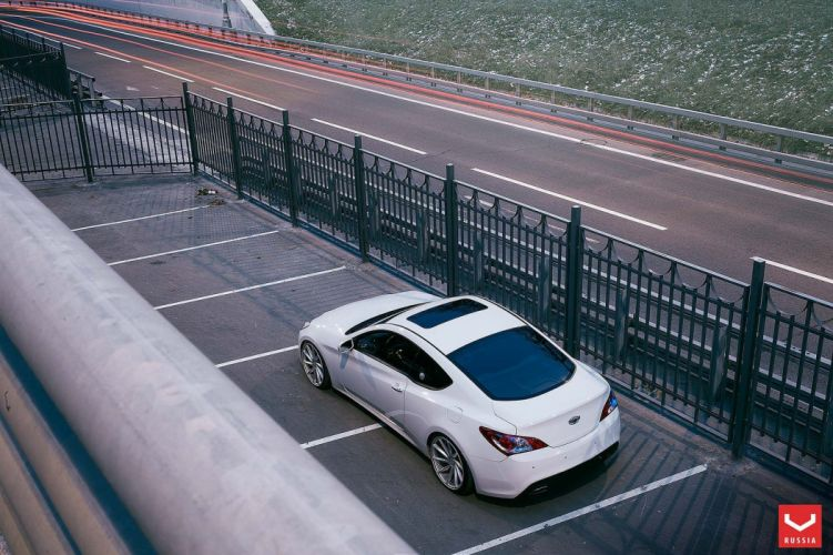 Hyundai Genesis vossen wheels tuning cars wallpaper