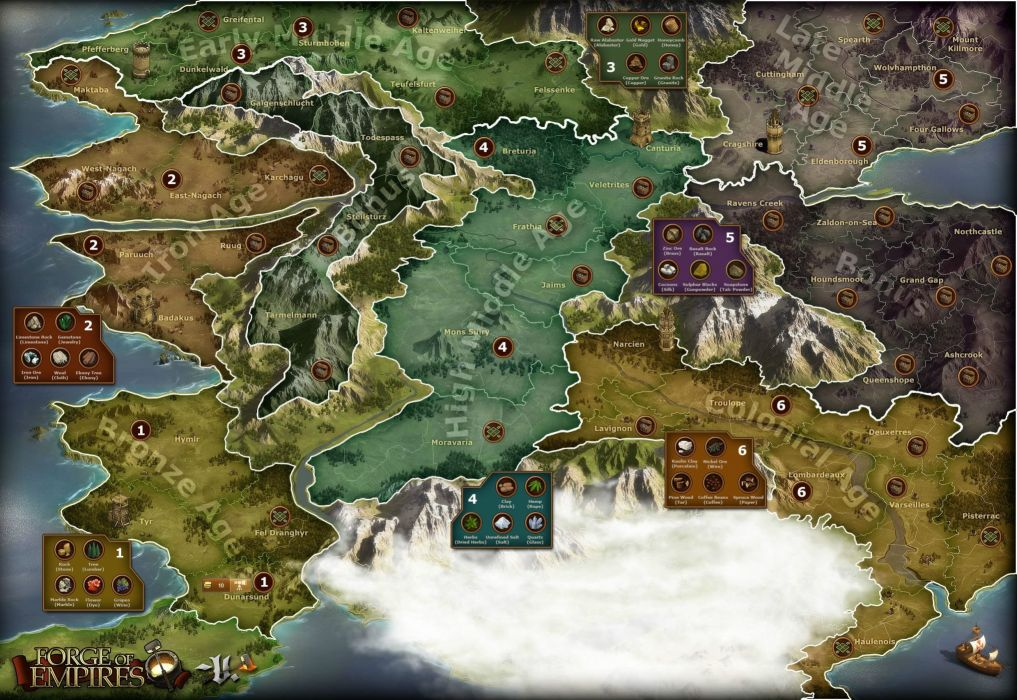 FORGE Of EMPIRES online fantasy strategy 1fempires building city cities adventure history map wallpaper