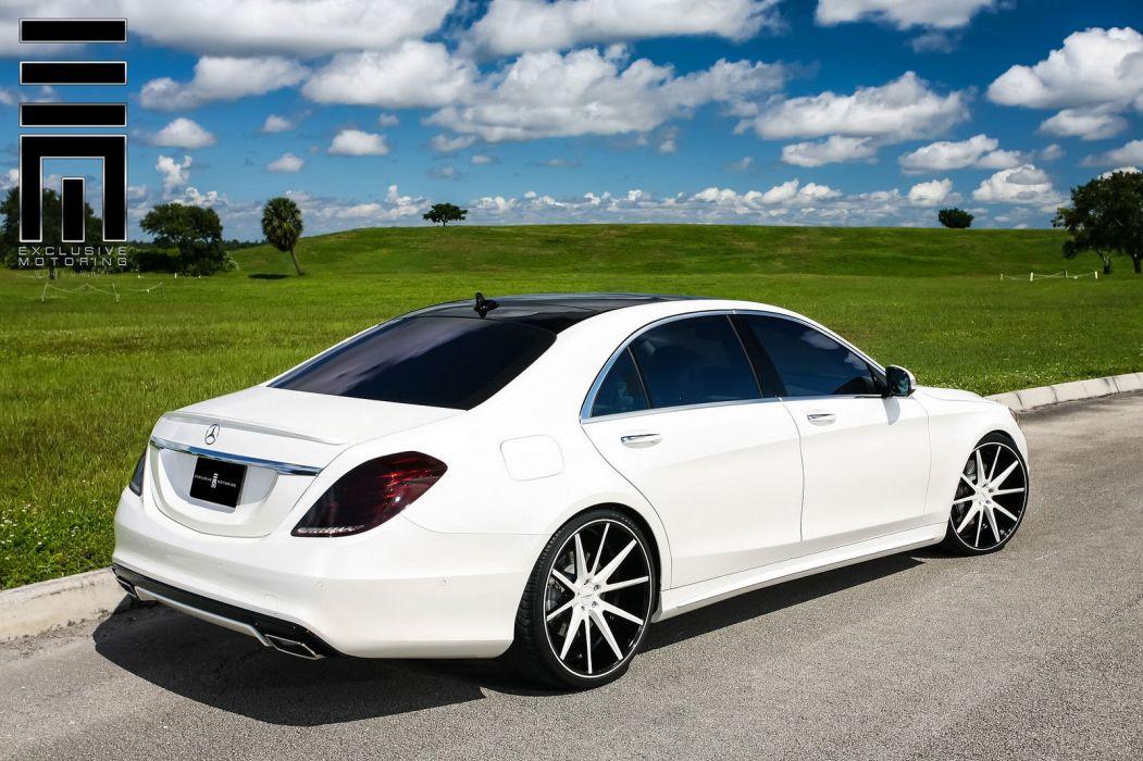 Mercedes S550 white vossen wheels tuning cars wallpaper