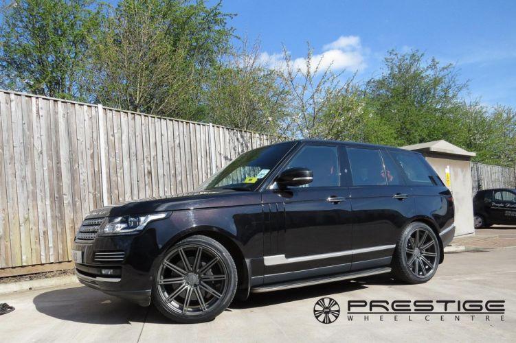Range Rover black vossen wheels tuning cars wallpaper