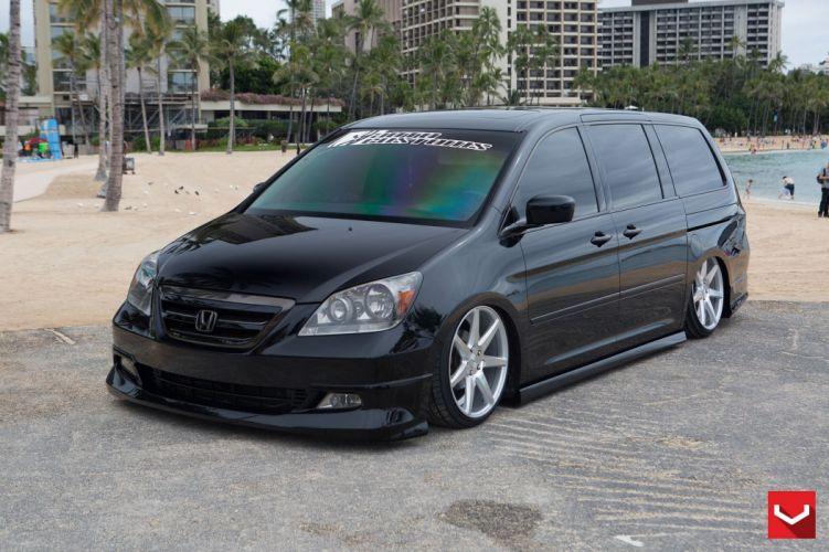 Honda Odyssey black vossen wheels tuning cars wallpaper
