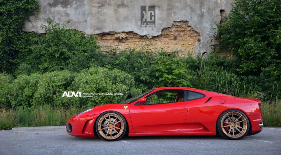 Ferrari F430 cars supercars Tuning adv1 wheels wallpaper