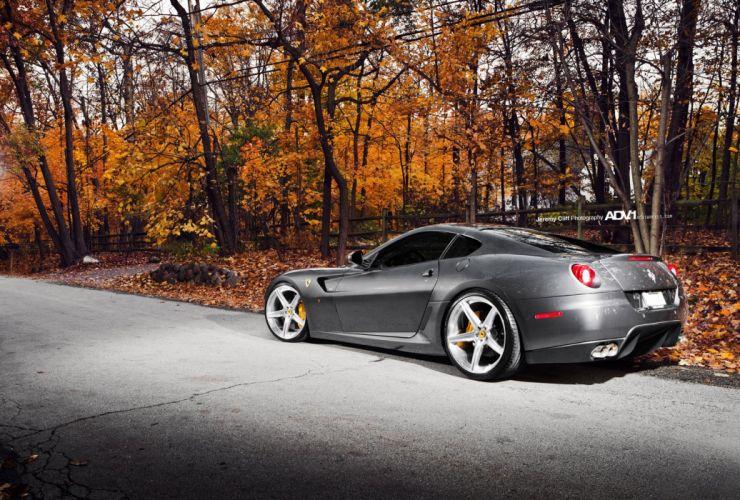 Ferrari 599 gtb cars supercars Tuning adv1 wheels wallpaper