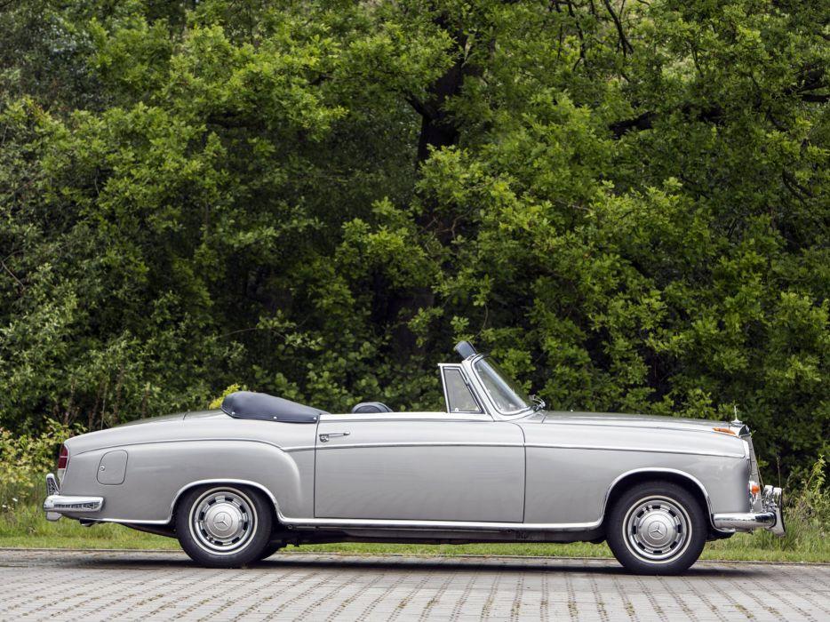 1958 Mercedes 220-SE Cabriolet convertible classic cars wallpaper