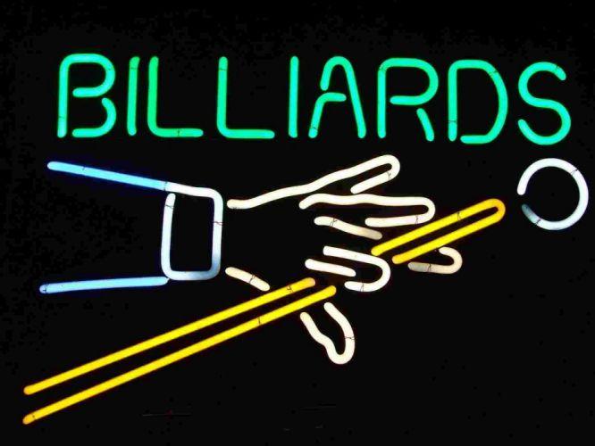 BILLIARDS pool sports 1pool neon sign wallpaper