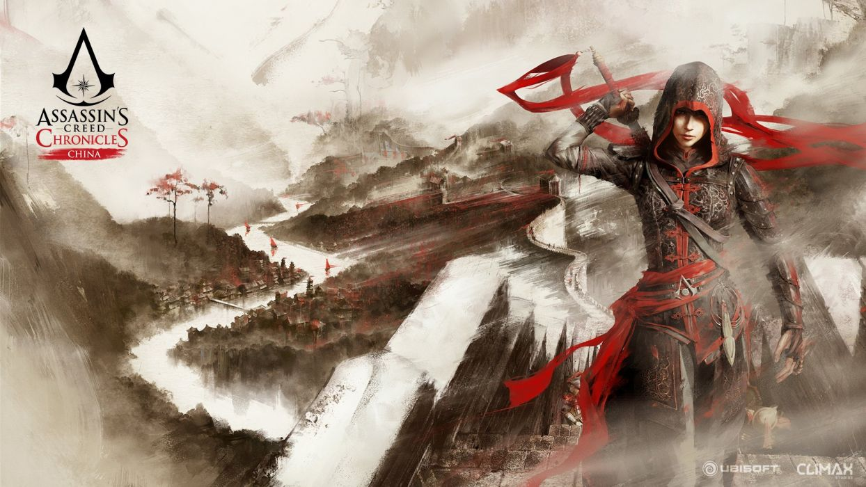 ASSASSINS CREED Chronicles China adventure action fantasy warrior fighting kung martial arts wallpaper