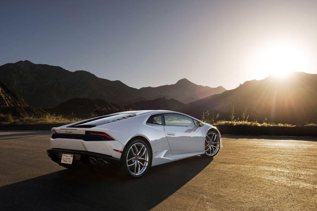 2015 Lamborghini Huracan LP 610-4 cars supercars coupe white wallpaper