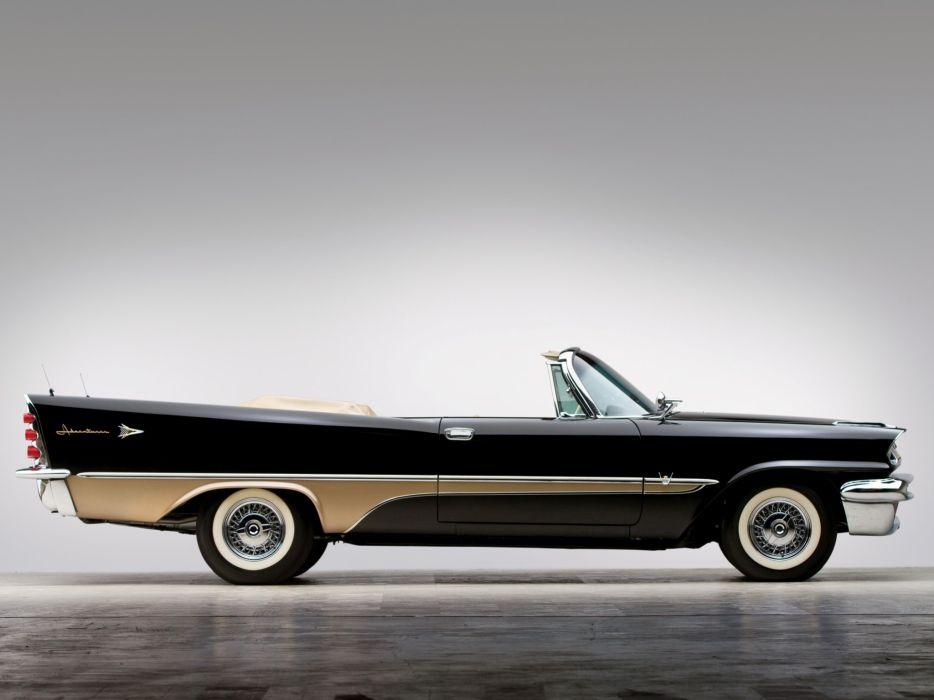 DeSoto Adventurer Convertible classic cars 1957 wallpaper