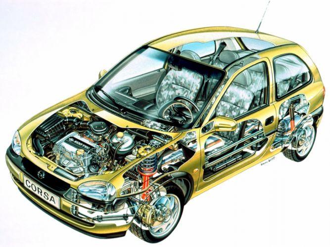 opel corsa cars technical wallpaper