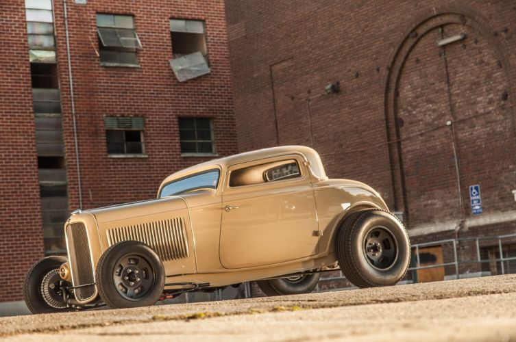 1932 Ford Deuce Coupe Three Window Hot Rod Hotrod Chopped Top USA 5616x3730-02 wallpaper