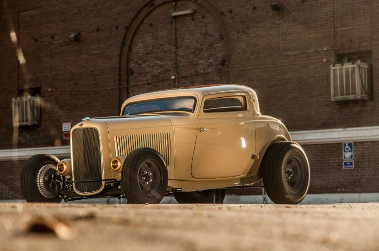 1932 Ford Deuce Coupe Three Window Hot Rod Hotrod Chopped Top USA 5616x3730-04 wallpaper