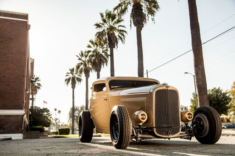 1932 Ford Deuce Coupe Three Window Hot Rod Hotrod Chopped Top USA 5616x3730-05 wallpaper