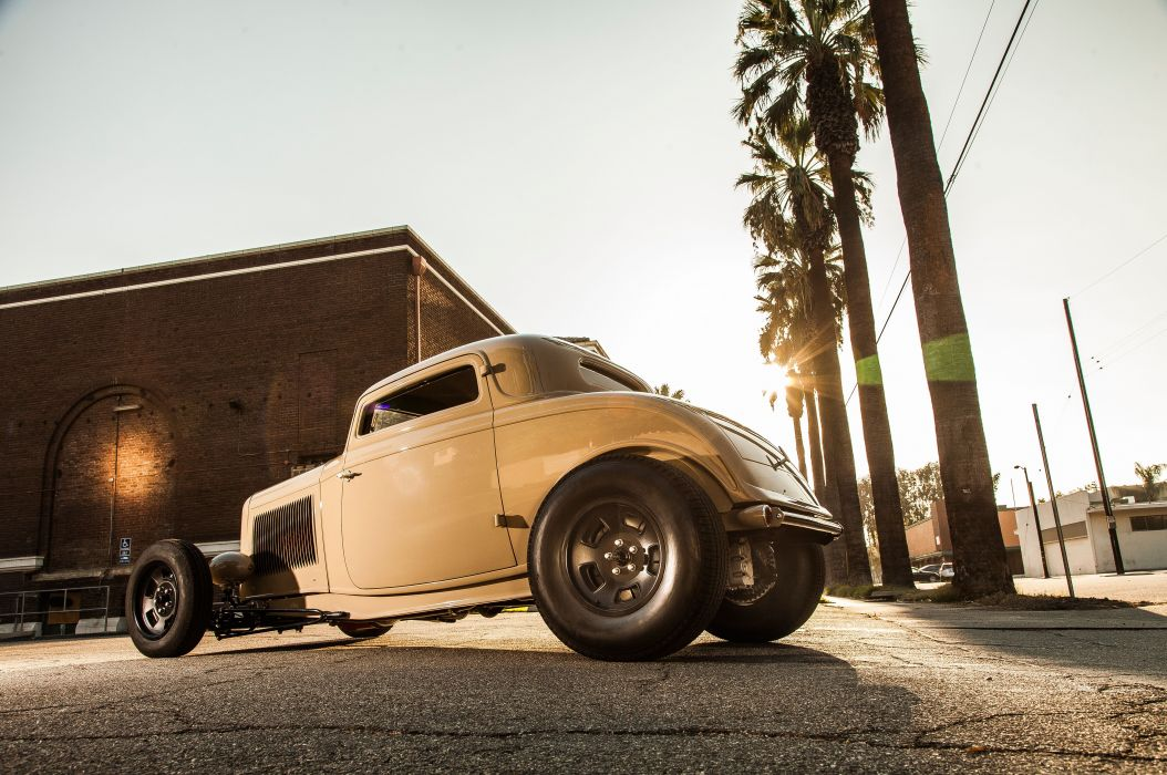 1932 Ford Deuce Coupe Three Window Hot Rod Hotrod Chopped Top USA 5616x3730-06 wallpaper