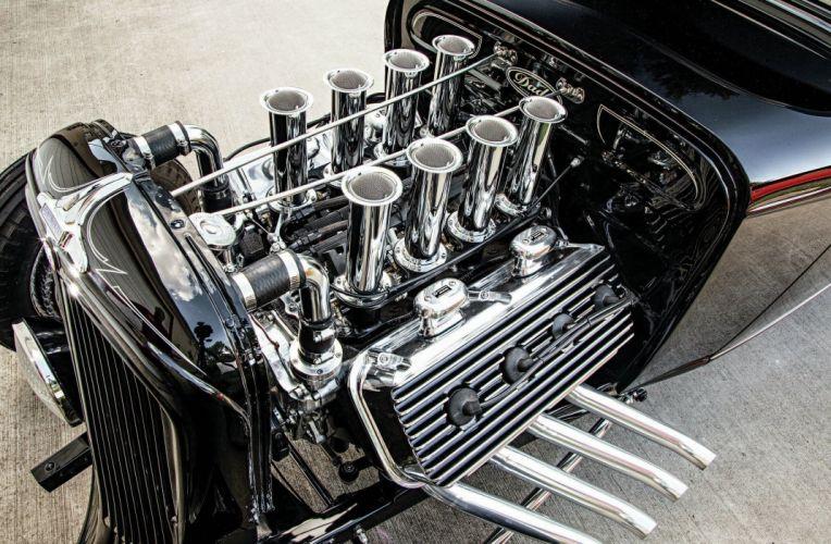 1933 Continental Coupe Five Window Hot Rod Hotrod Black USA 2048x1340-01 wallpaper