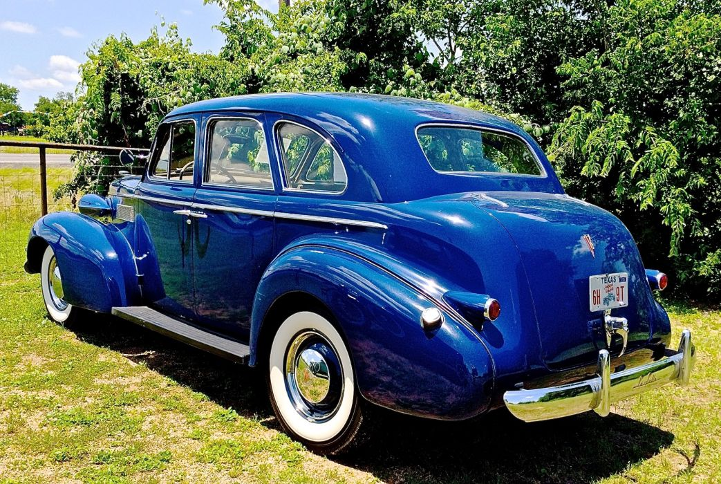 1939 Cadillac La Salle Sedan Four Door Classic Old Vintage Original Blue USA 2048x1374-03 wallpaper