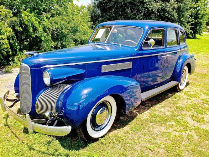 1939 Cadillac La Salle Sedan Four Door Classic Old Vintage Original Blue USA 2048x1536-01 wallpaper