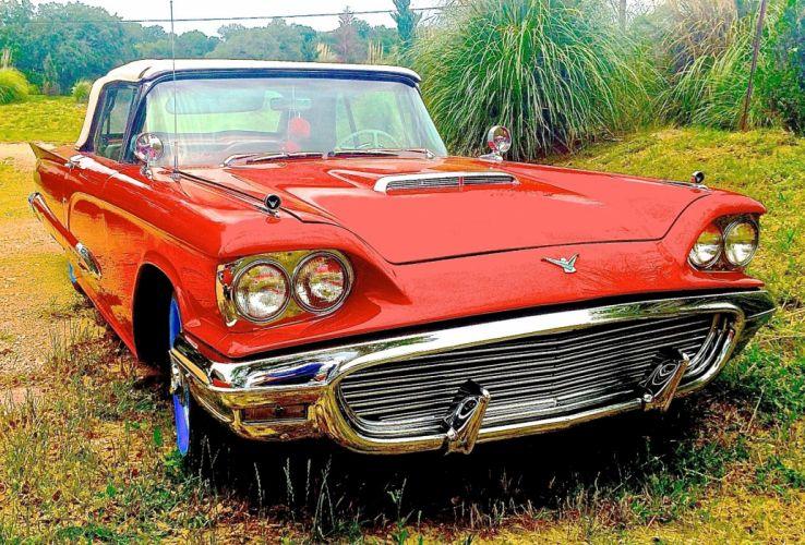 1959-Thunderbird-Convertible Custom Kustom Hot Old Scchool USA 1600x1084 wallpaper