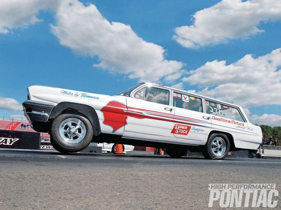 1961 Pontiac Bonneville Wagon Raceway Pro Stock Drag Racing USA 1600x1200 wallpaper