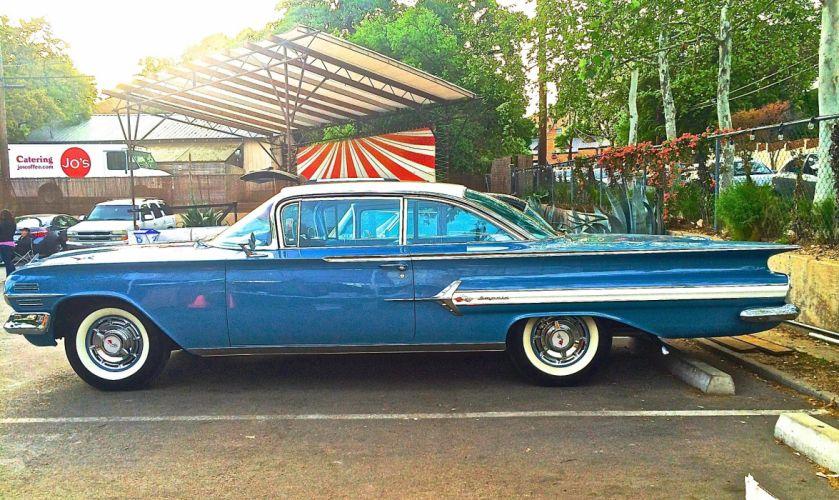 1960 Chevrolet Impala Coupe Classic Old Original Blue USA 2048x1220-01 wallpaper