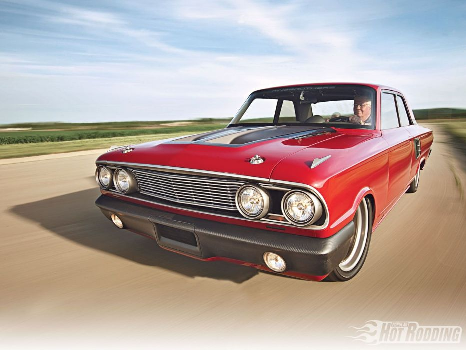 1964 Ford Falcon Coupe Super Street Pro Touring HiTech Red USA )1600x1200-02 wallpaper