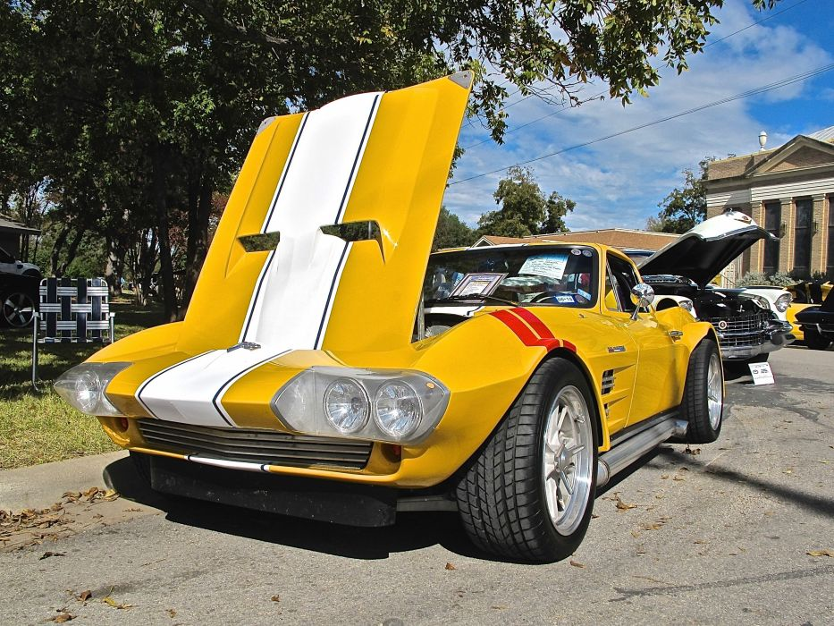 1964 Chevrolet Chevy Corvette Grand Sport Custom Raceing Yellow USA 3045x1896-02 wallpaper