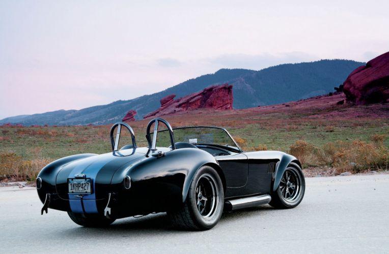 1965 Shelby Cobra Replica Supercar Muscle Black USA 2048x1340-02 wallpaper