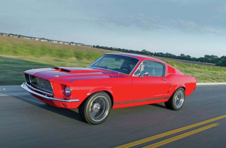 1967 Ford Mustang GT Fastbac Super Street Pro Touring Red USA 2048x1340-02 wallpaper