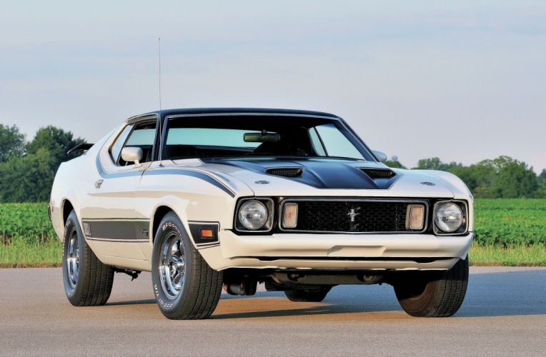 1973 Ford Mustang Mach-1 Muscle Classic Old Original White USA-2048x1340-01 wallpaper