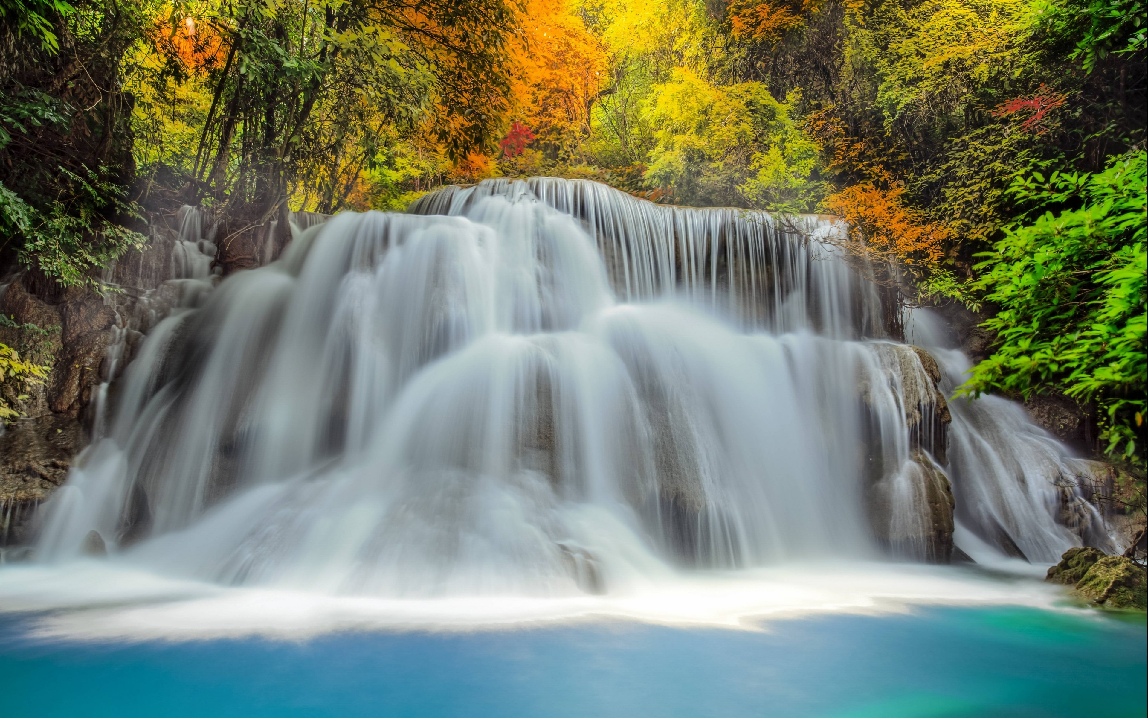 Waterfall river landscape nature waterfalls autumn for Waterfall landscape