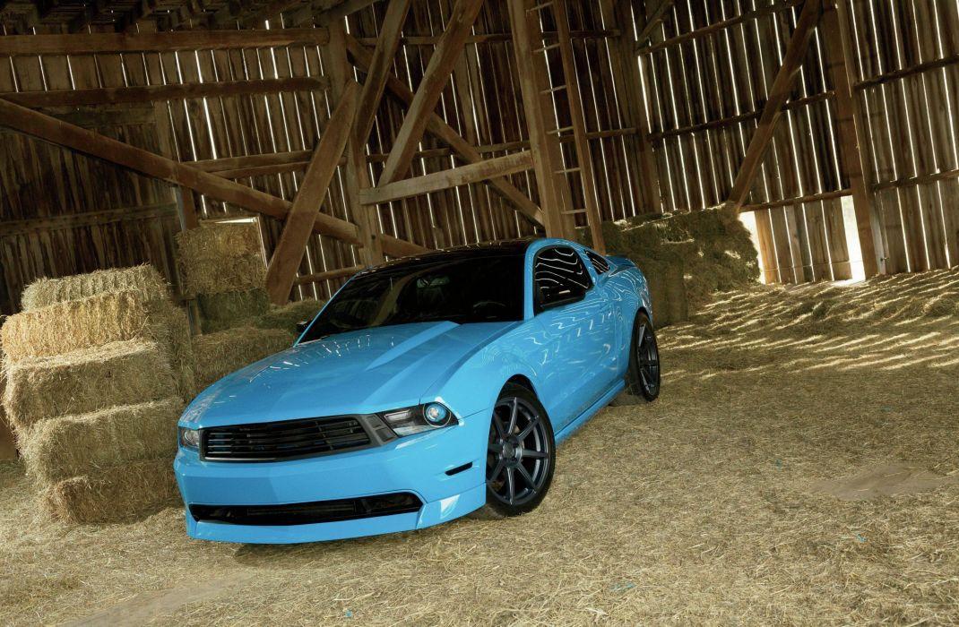 2010 Ford Mustang GT Muscle Super Street Supercar Blue USA 2048x1340-01 wallpaper