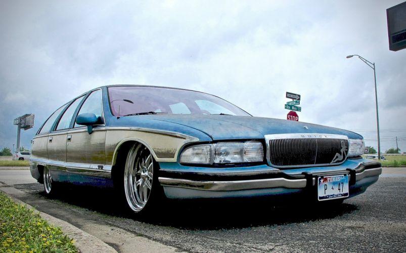 1990 Buick Estate Custom Kustom Lowered Low USA 3023x1736-02 wallpaper