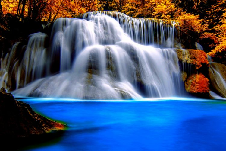 waterfall river landscape nature waterfalls autumn wallpaper