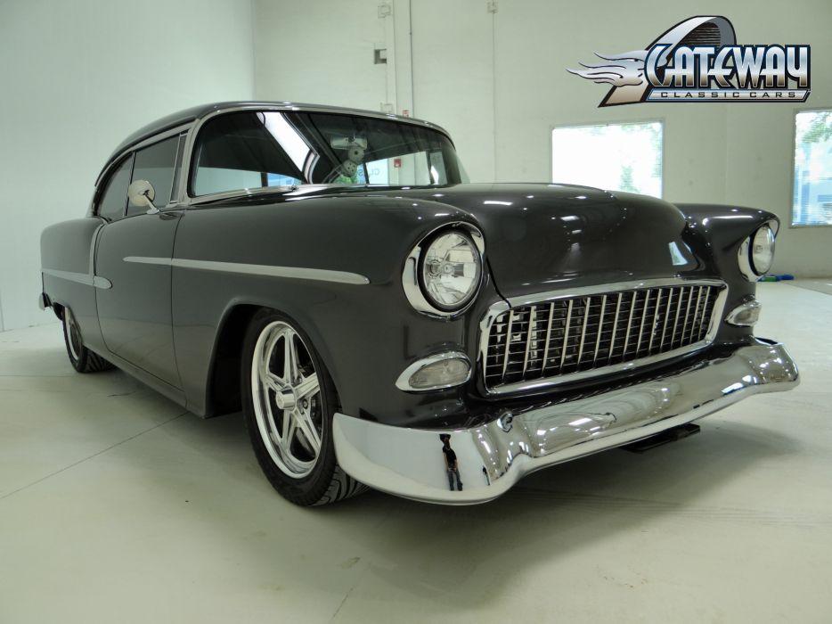 1955 Chevrolet Chevy Bal Air 210 Coupe Hardtop Super Street Rodder USA 3648x2736-04 wallpaper