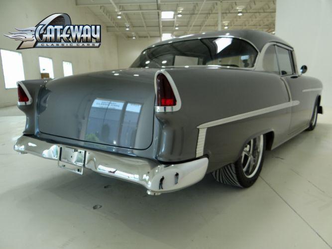 1955 Chevrolet Chevy Bal Air 210 Coupe Hardtop Super Street Rodder USA 3648x2736-08 wallpaper