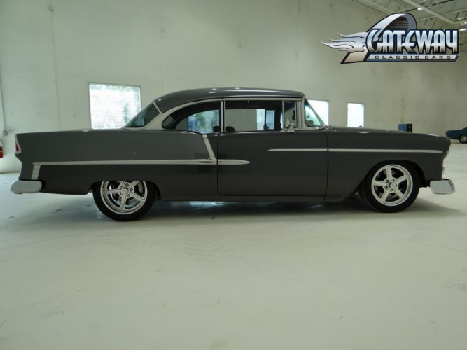 1955 Chevrolet Chevy Bal Air 210 Coupe Hardtop Super Street Rodder USA 3648x2736-09 wallpaper