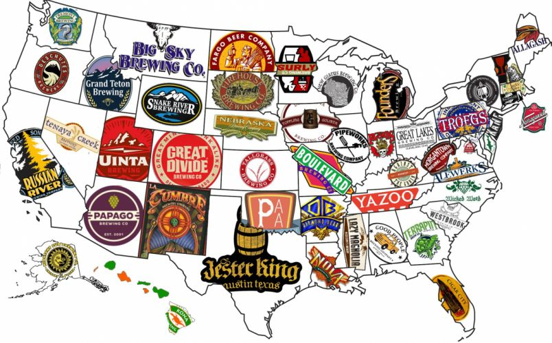 BEER alcohol drink drinks map america usa wallpaper