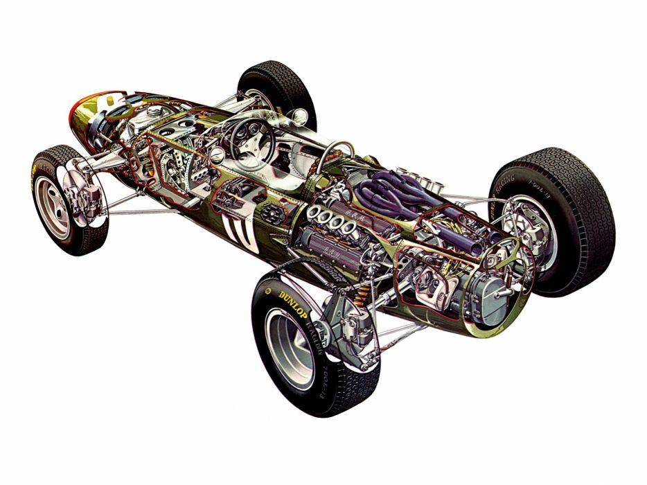 formula one sportcars cutaway technical BRM P261 1964 wallpaper